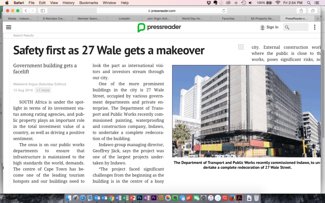 Safety first as 27 Wale Street gets a makeover