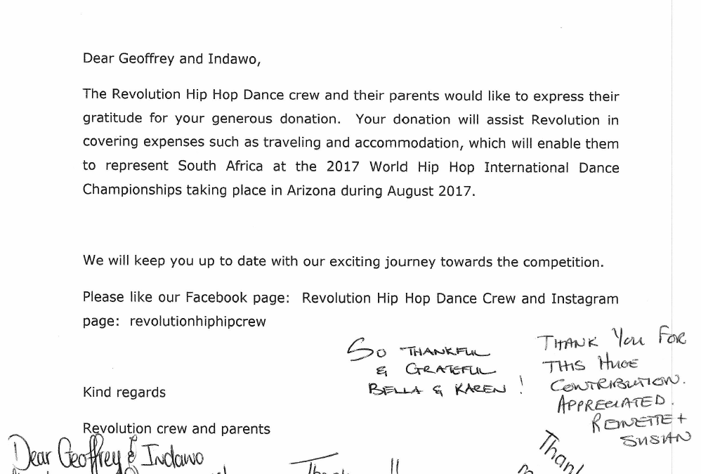 Revolution Hip Hop Dance Thanks Indawo
