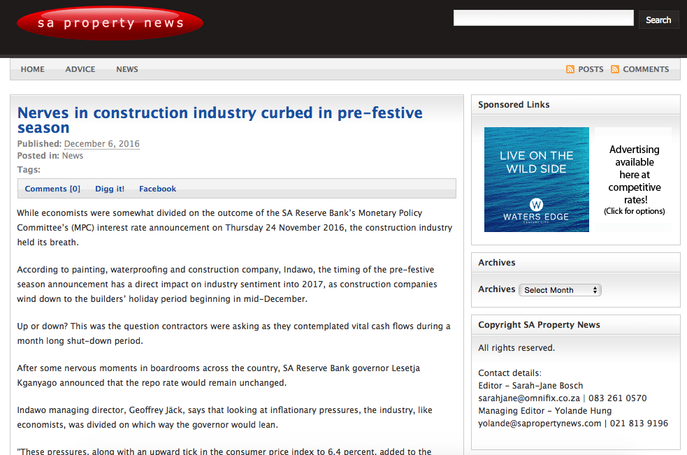Nerves in construction industry curbed in pre-festive season
