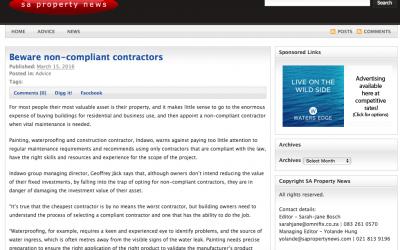 Beware non-compliant contractors