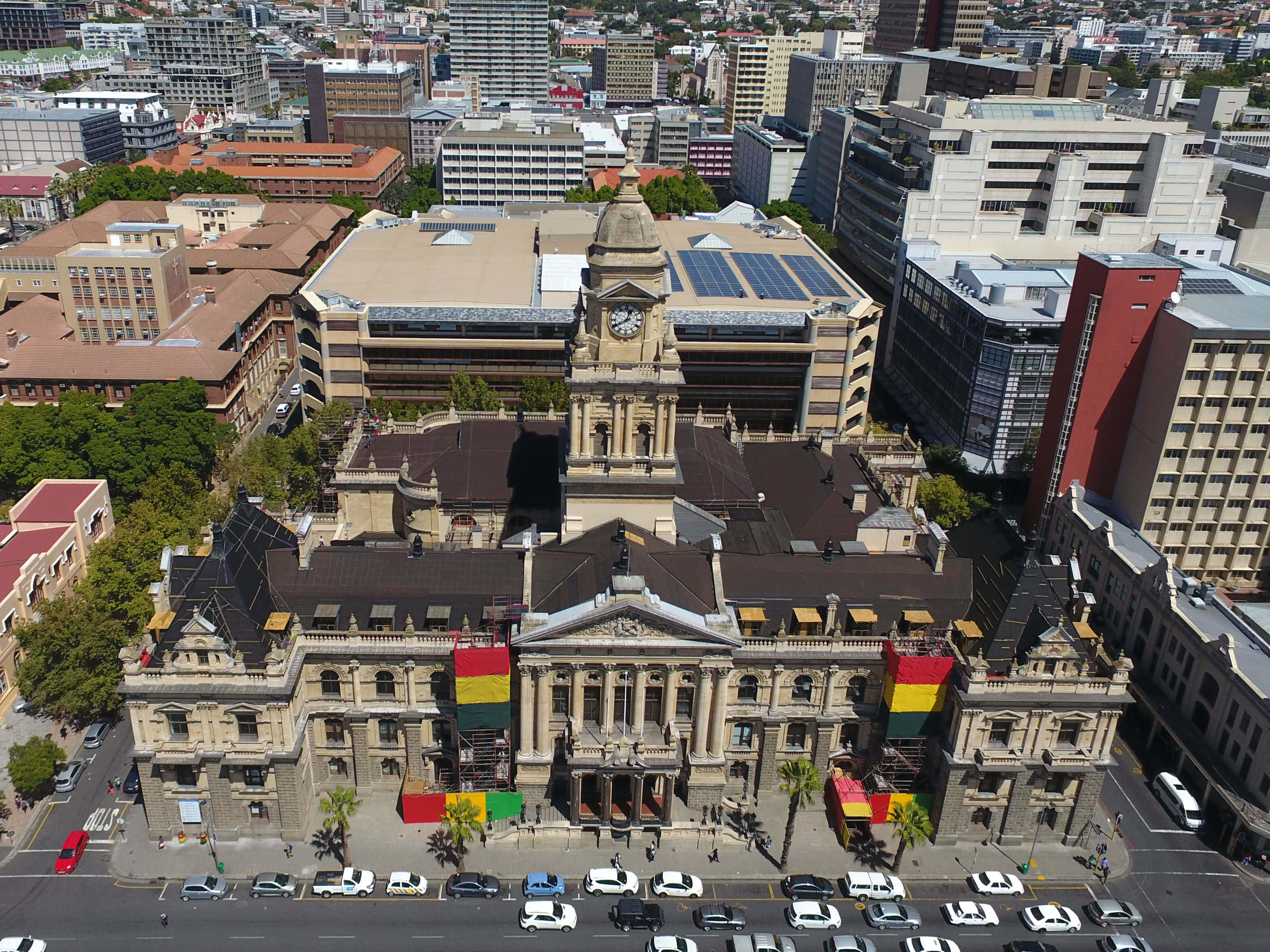 Roofing project at Cape Town City hall by roofing contractors Indawo in Cape Town