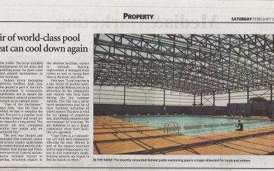 Record repair of world-class pool means Retreat can cool down again