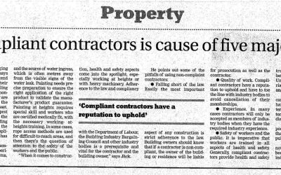 Using non-compliant contractors is cause of five major problems