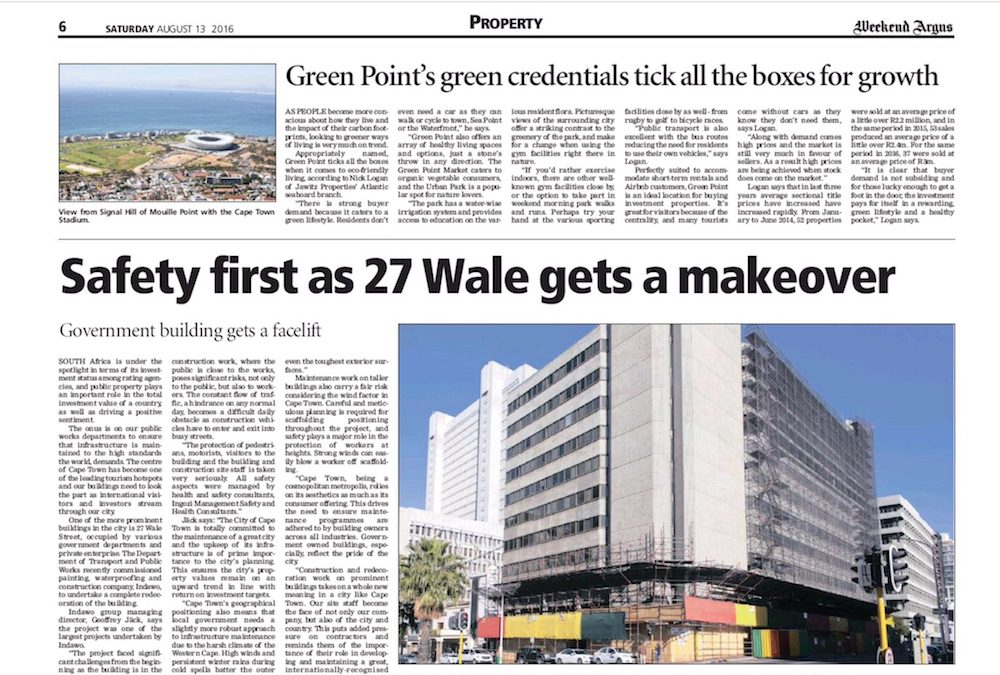 Weekend Argus: Safety first as 27 Wale gets a makeover