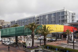 Redecoration of the bridge at V&A Waterfront done by Indawo