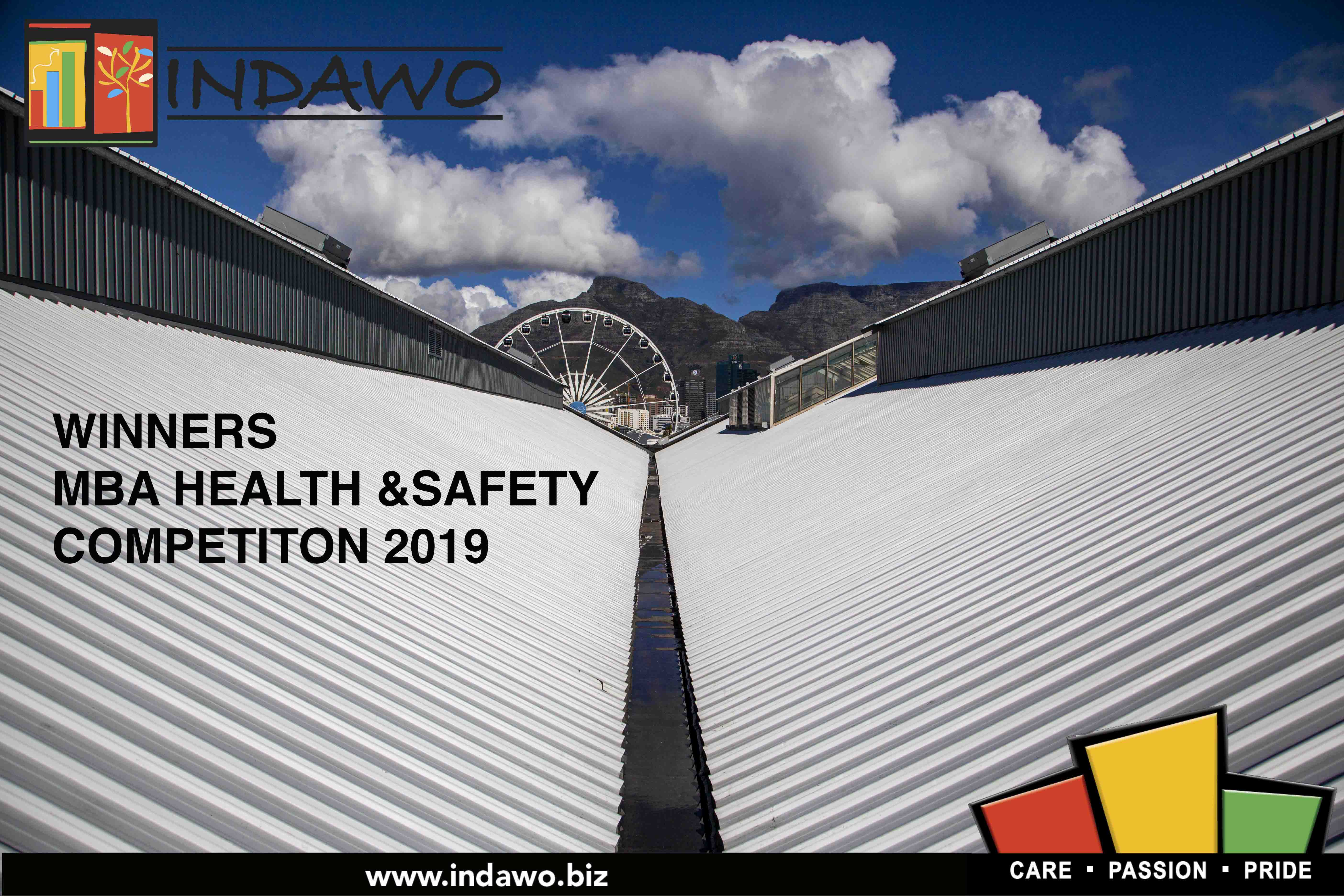 Indawo, Kings Warehouse, MBA South Africa Health and Safety competition 2019 competition, second place nationally, first place regionally