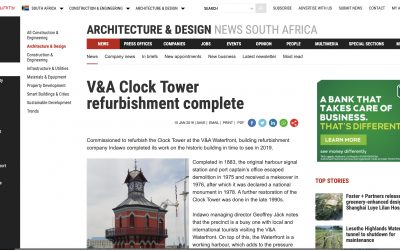 Indawo in the media again: V&A Clock Tower refurbishment complete, bizcommunity.com