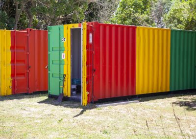 Indawo site containers, unmistakable and instantly recognisable by our clients