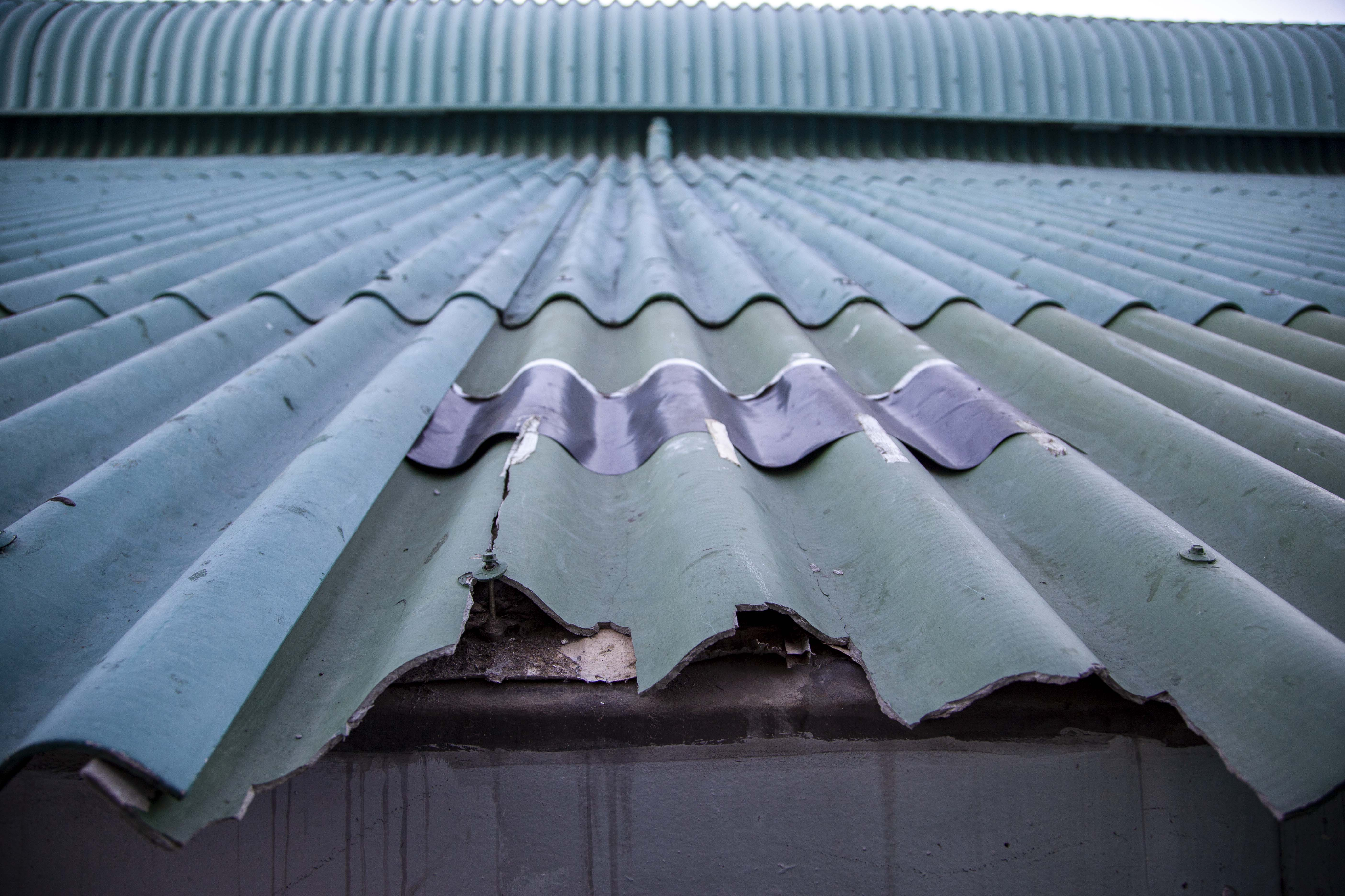 Asbestos roofs need replacing when signs of deterioration are evident