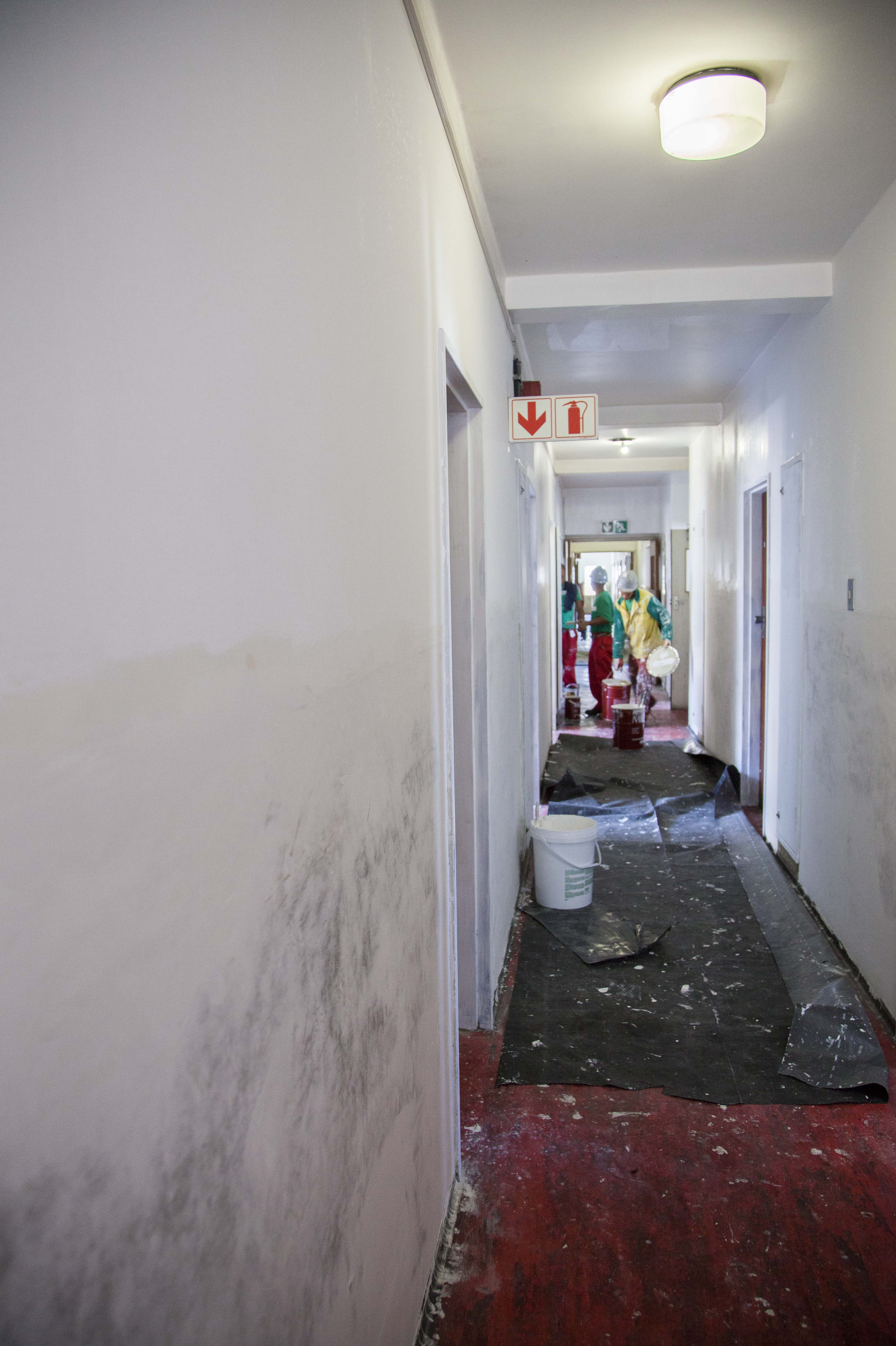 Internal building refurbishment, redecoration, painting from building refurbishment and roofing contractor, Indawo