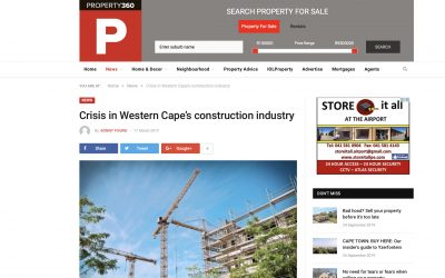 Indawo in the media. property360.co.za – Crisis in Western Cape's construction industry