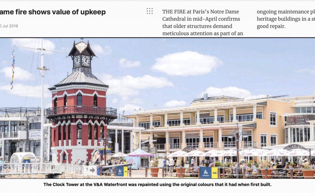 Indawo in the media. Cape Times Online. Notre Dame fire shows value of upkeep