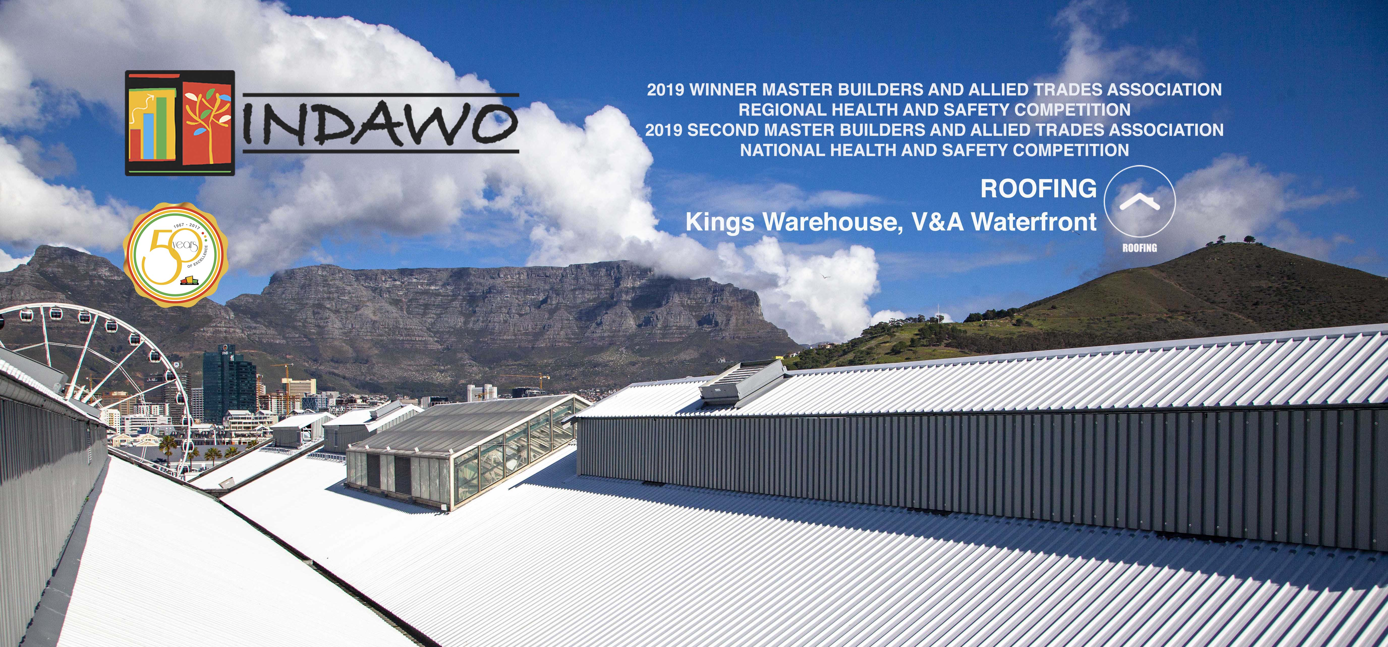 Kings Warehouse roofing project winner 2019 master builders and allied trades association MBA health and safety competition
