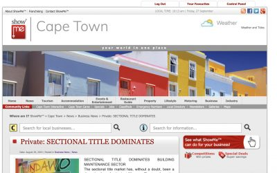 showmecapetown SECTIONAL TITLE DOMINATES