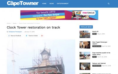 Indawo in the news! V&A Clock Tower Capetowner