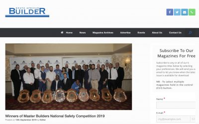 Indawo in the media. SA Builder, winners MBA National Health and Safety Competition