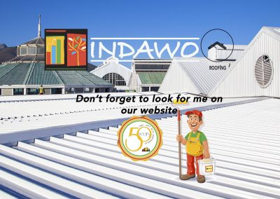 Indawo website main page roofing cape town