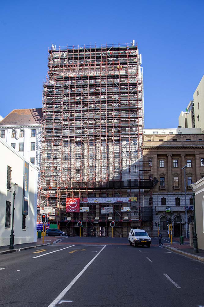 ABSA ADDERLEY STREET external redecoration and painting by Indawo