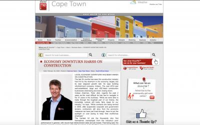 ECONOMY DOWNTURN HARSH ON CONSTRUCTION