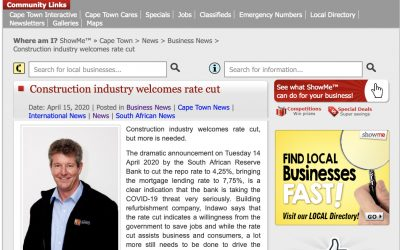 Construction industry welcomes rate cut but more is needed