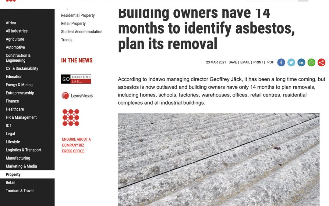 Asbestos Abatement Regulations Cape Town Indawo asbestos registered contractor