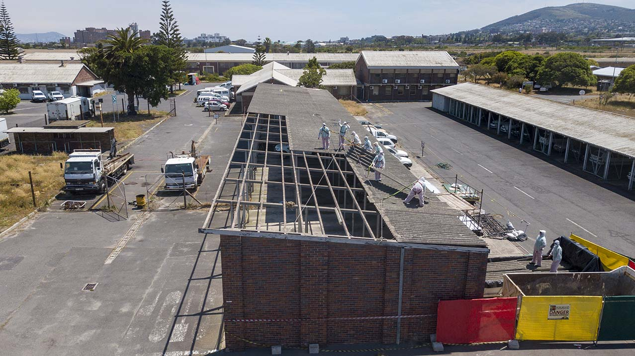 Asbestos roof replacement 1