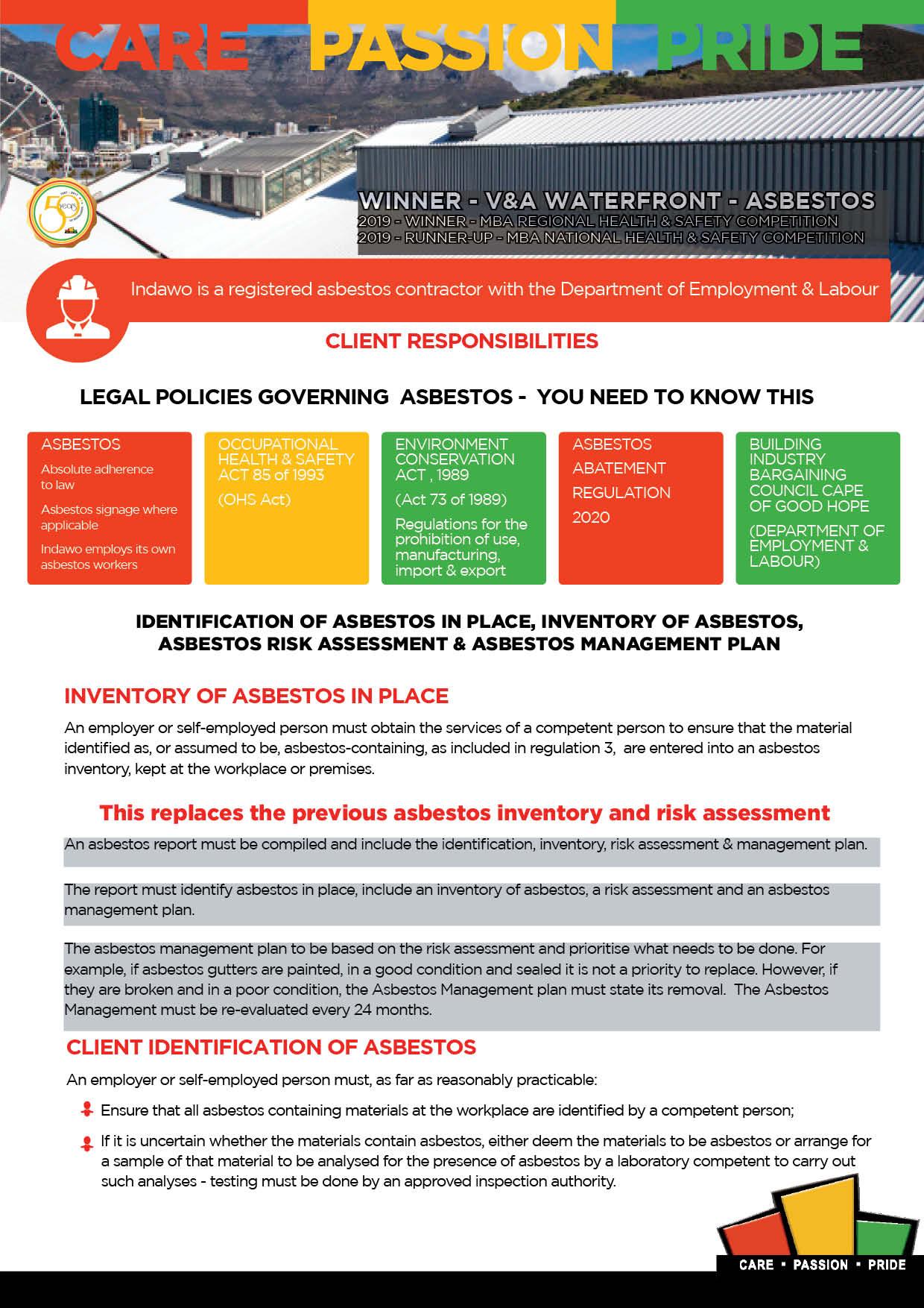 Asbestos Abatement Regulations 2020 Cape Town Western Cape asbestos management