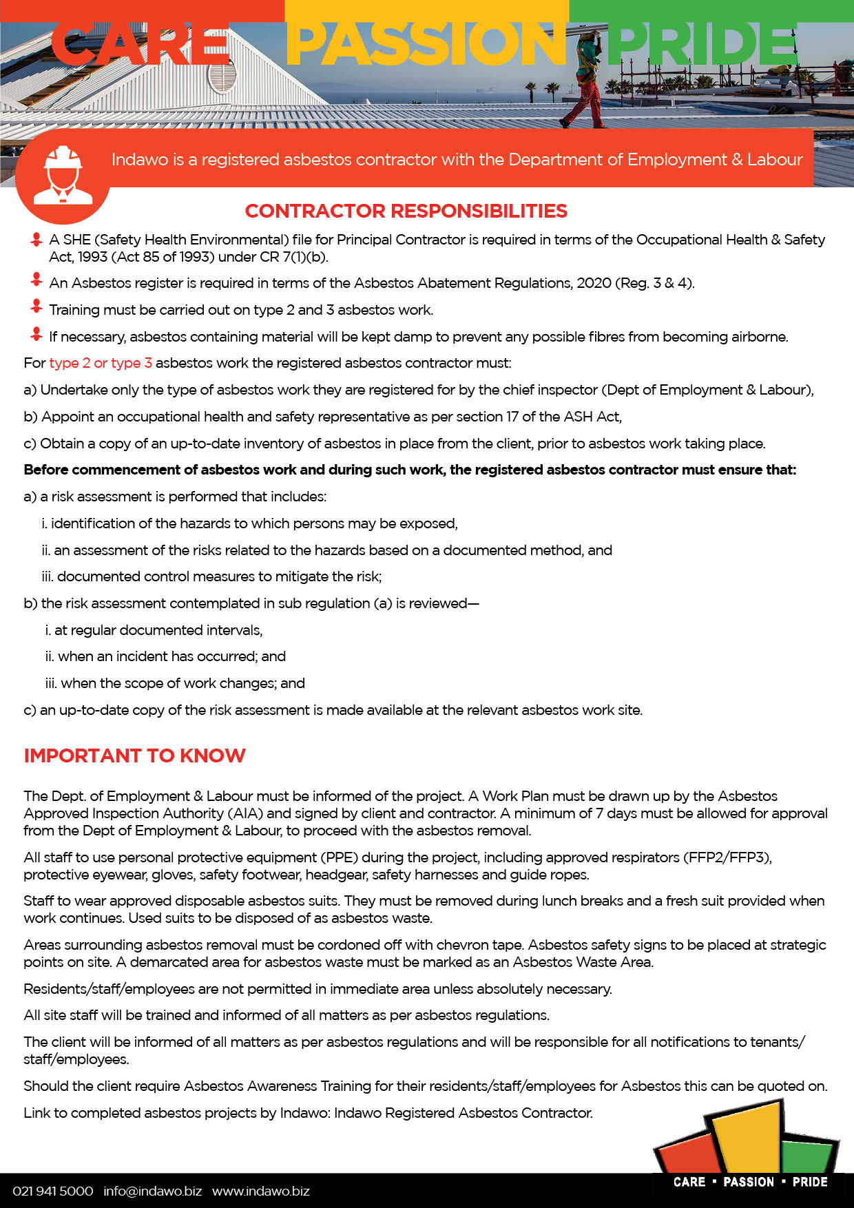 Asbestos Abatement Regulations 2020 Cape Town Western Cape asbestos management and removal