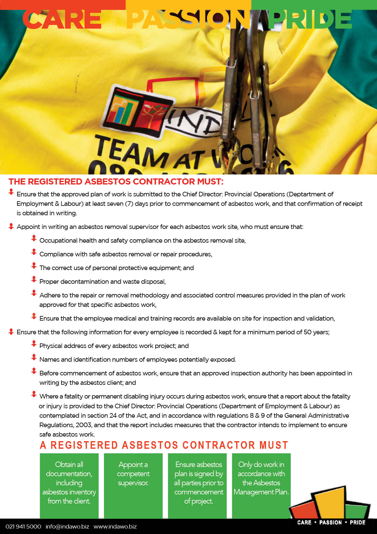 Asbestos Abatement Regulations 2020 Cape Town Western Cape asbestos management and removal and handling