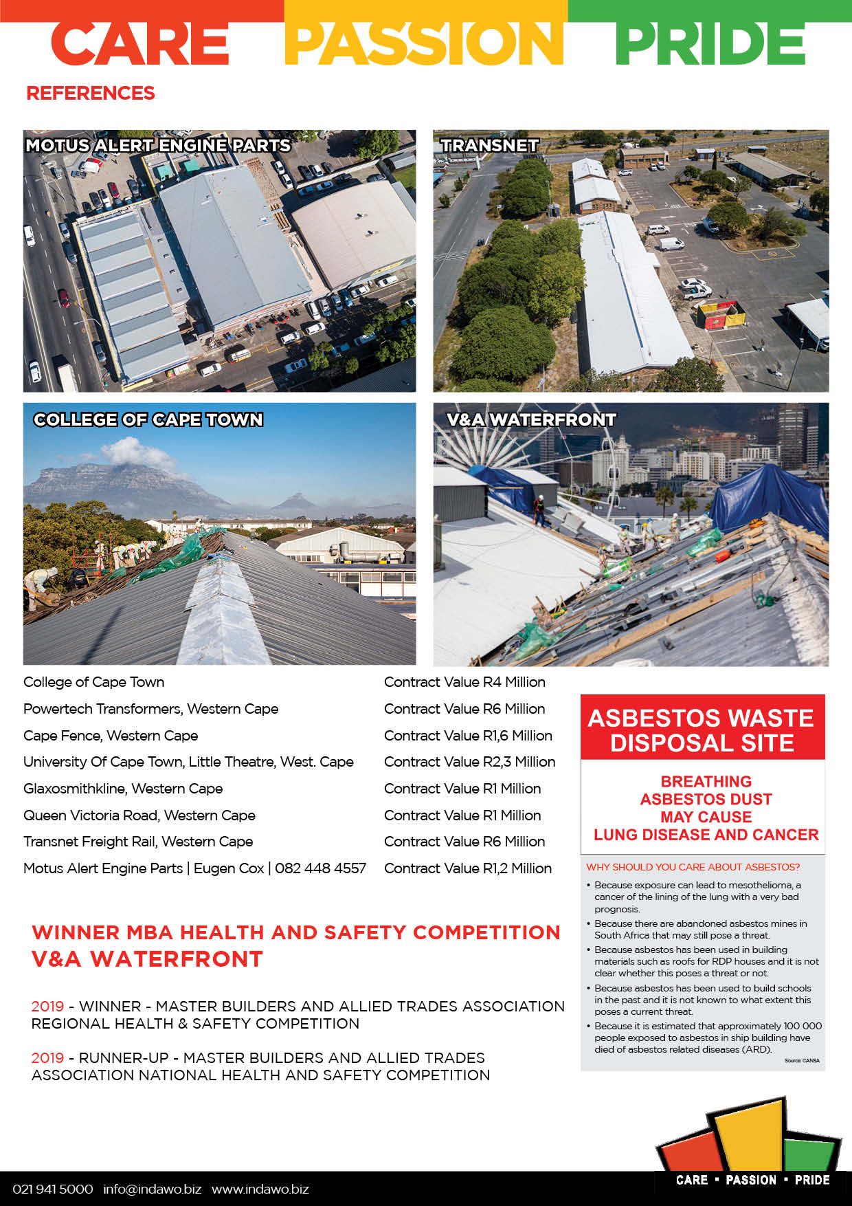 Asbestos Abatement Regulations 2020 Cape Town Western Cape asbestos management and removal and handling projects